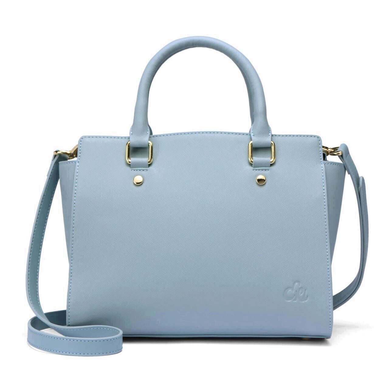 dbb81eaef83c5 C iel Aniyah blue saffiano tote leather bag - Ciel Bags